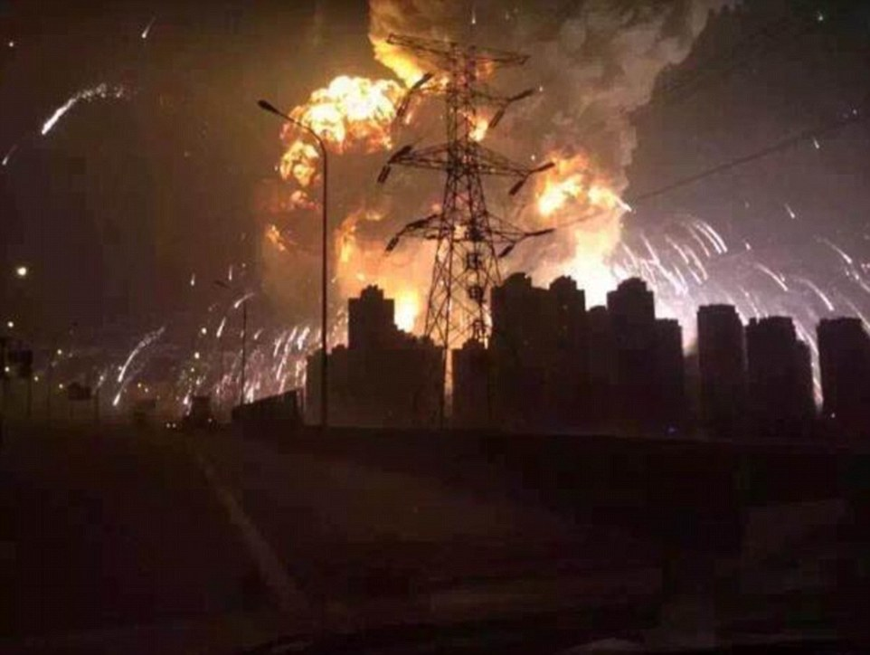Explosive:The National Earthquake Bureau reported two blasts before midnight local time in China, which measured on the Richter scale