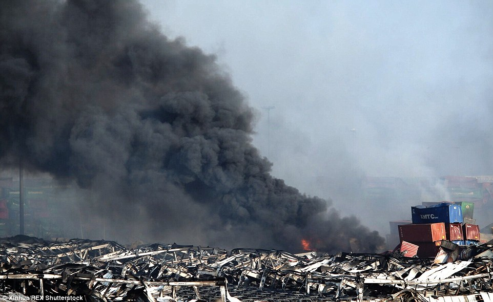 Authorities said the blasts started at shipping containers at the warehouse owned by Ruihai Logistics, a company that says it stores hazardous materials including flammable petrochemicals, sodium cyanide and toluene diisocyanate