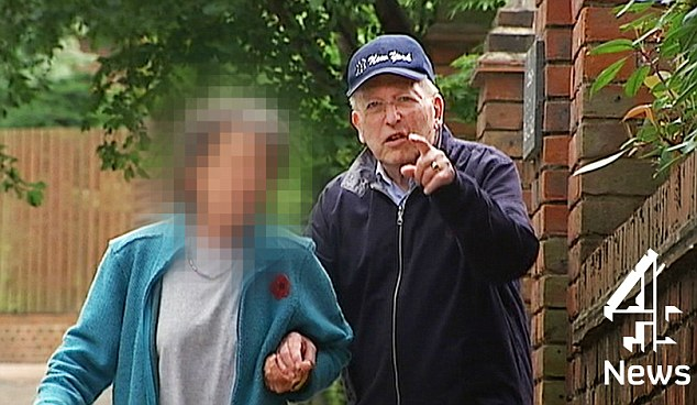 Last seen: Lord Janner pictured outside his house in London in 2014. It is said he now needs round the clock care as he suffers from advanced dementia