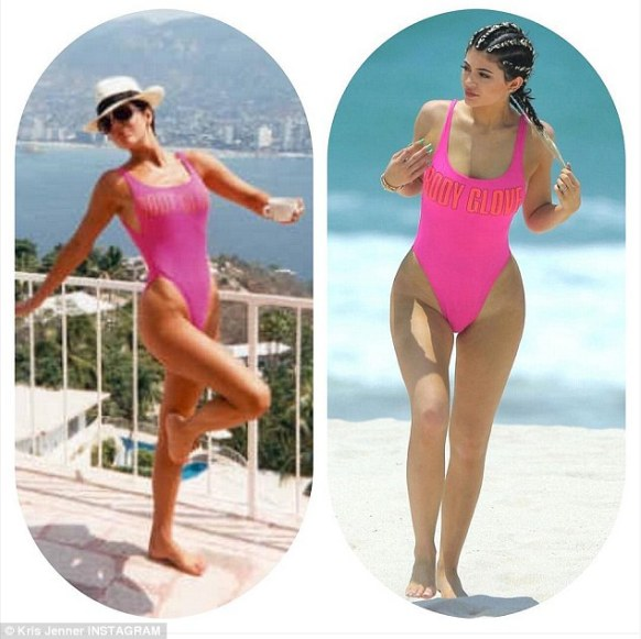 Who wore it better? Kris joked about her daughter taking to the beach in the same swimsuit