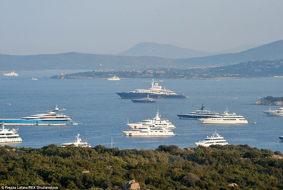Megayachts Drop Anchor Off The Sardinian Shore In Ultimate