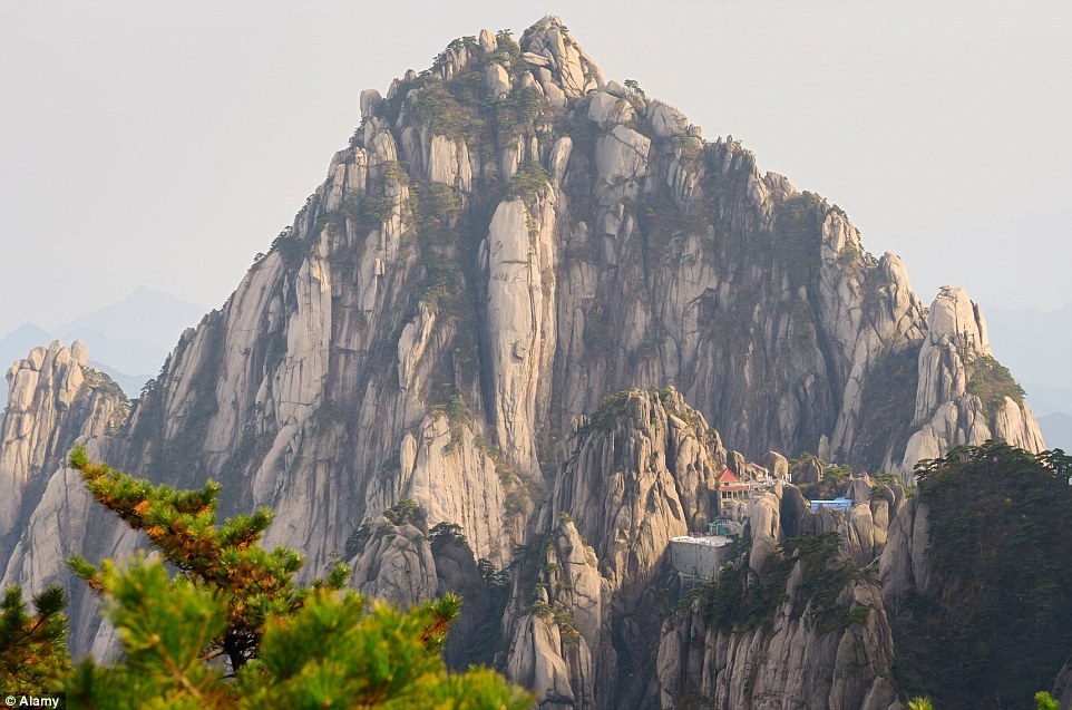 To reach the Jade Screen Hotel in China's Yellow Mountains, guests will need to ascend some 60,000 stone steps