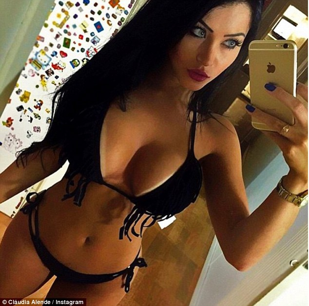 Rising star: Claudia (pictured) keeps her fans happy by posing numerous selfies of herself almost every day