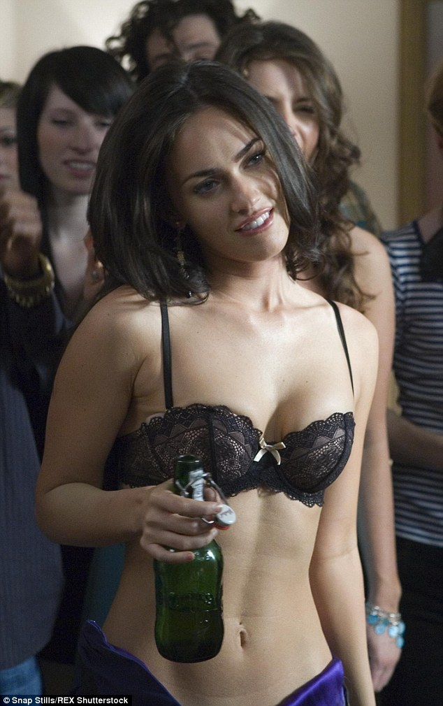 Jennifer's Body: Megan (pictured) donned a lacy black bra in her 2008 film How to Loose Friends and Alienate People