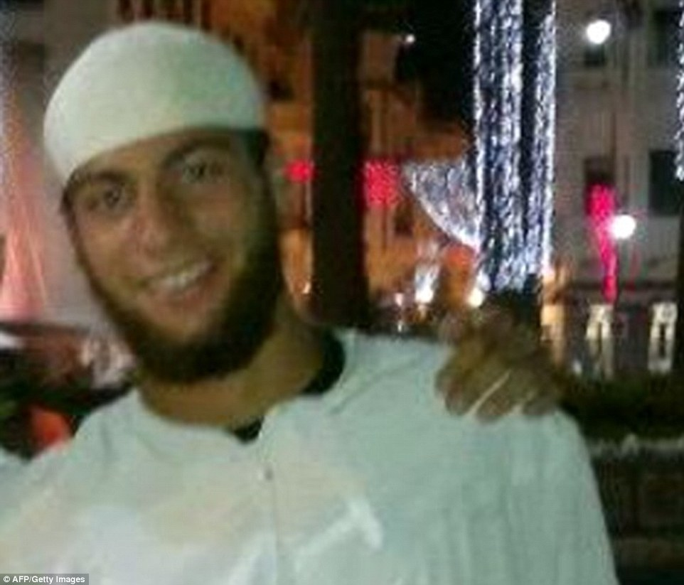 Suspect: Ayoub El-Khazzani (above), 26, is being questioned by French counter-terrorism police after he allegedly opened fire on a high-speed train from Amsterdam to France with a Kalashnikov on Friday evening. Alarmingly, the suspect had already been on government officials' radar in three European countries before he carried out the terror attack, which left a U.S. soldier and a citizen wounded