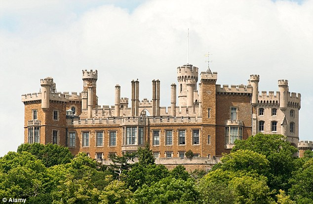 Mr Proctor's home within the grounds of Belvoir Castle (pictured) in Leicestershire was searched by officers in March