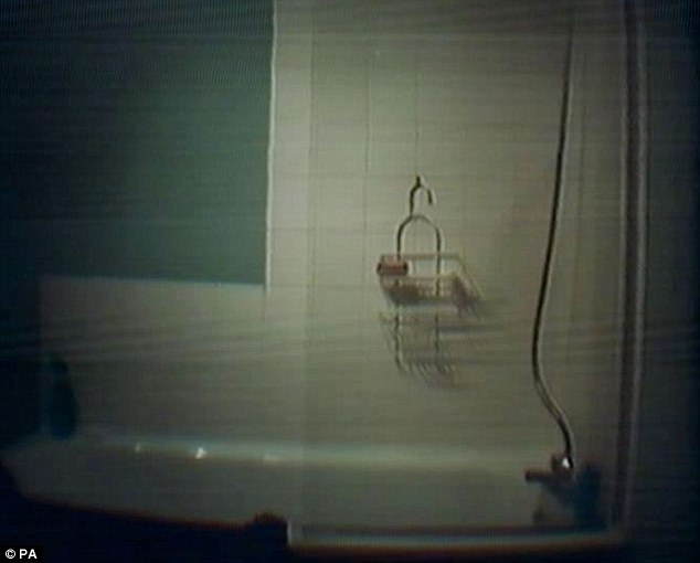 Secret shot: This is an image of a shower inside Clifton School he filmed using his secret network of cameras
