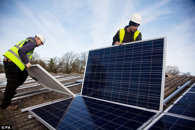 Image result for sunny london building with solar panels