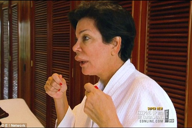 Not her best look: Kris Jenner is pictured with a swollen lip during a trip to the Dominican Republic in 2012; the swelling recurred this week and forced her to cancel a planned TV performance on Bachelor's Paradise