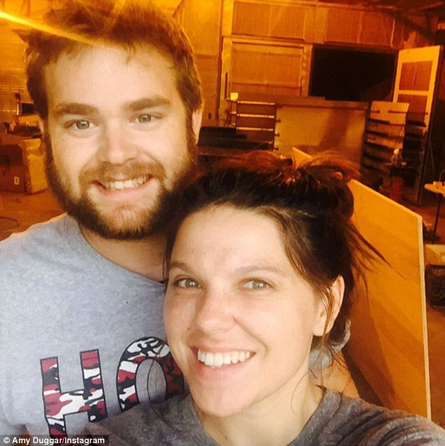 Sad situation: Dillon King, pictured with Amy Duggar, has also spoken out and said Josh cheating on his wife is 'really sad.' Dillon and Amy are set to wed this weekend