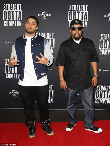Promo tour: His new film, Straight Outta Compton, highlights some of the racism issues his famous rap group N.W.A dealt with during their career