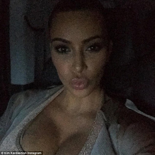 Classic pose: The reality star also shared a second selfie to mark the milestone and struck a classic duck face pose