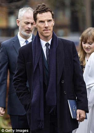 Cumberbatch was a guest at Richard's reinterment at Leicester Cathedral in March (pictured)