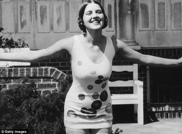 Miss Conservative: When Miss America began in Atlantic City in 1921, all swimsuits worn were one-piece and ended in a skirt (pictured in 1926)