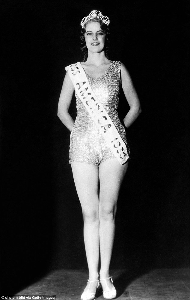 Ooh-lala! After the pageant was shut down for several years in response to protesters who called it toorisqué, the swimwear – still modest by today's standards – came back in the 1930s