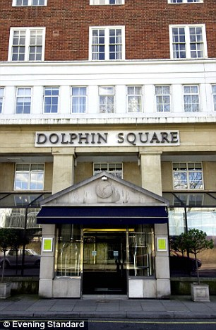 The Dolphin Square apartment complex in Central London, where depraved sex 'parties' involving underage boys supposedly took place between 1975 and 1984
