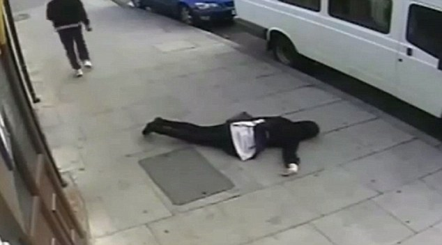 Caught: Ayoade was arrested and later jailed after police released CCTV footage of the horrific attack