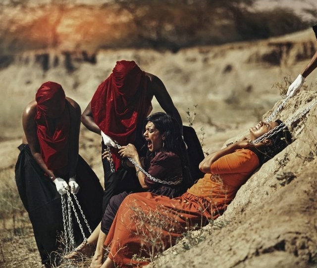 Please Stop The Women Scream As They Are Tied Up In Chains By The Rakshasas