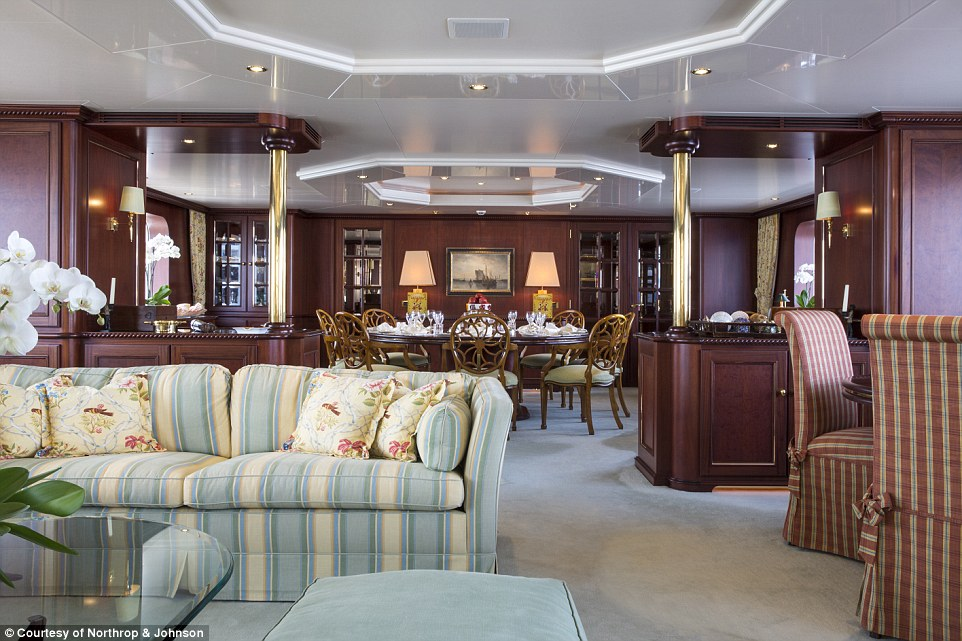 At 43.6 metres (143ft), Lady Duvera has an elegant dining room and an aft deck with alfresco dining space for up to 16 people