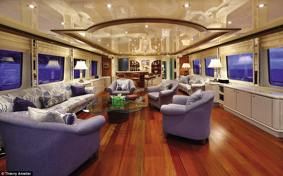 Little Fish (asking price: £7.2million, $11million) underwent a nine-month refit that saw its interior undergo a complete overhaul