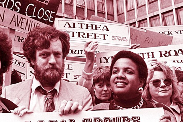 'Magnetic attraction': Jeremy Corbyn and Diane Abbott during a demonstration in the 1970s - around the time they became lovers