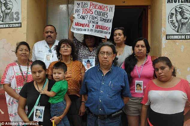 Solidarity:At a meeting of Guerrero's Committee for the Murdered and Disappeared (pictured), MailOnline heard the testimonies of many families left in uncertainty by the disappearance of loved ones
