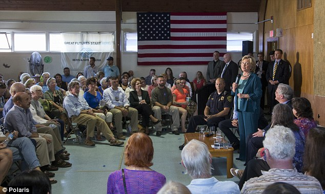Image result for small crowd for clinton