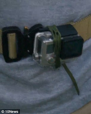 The soldier, identified only as Michael, took to wearing the GoPro on his body during his encounters with his wife