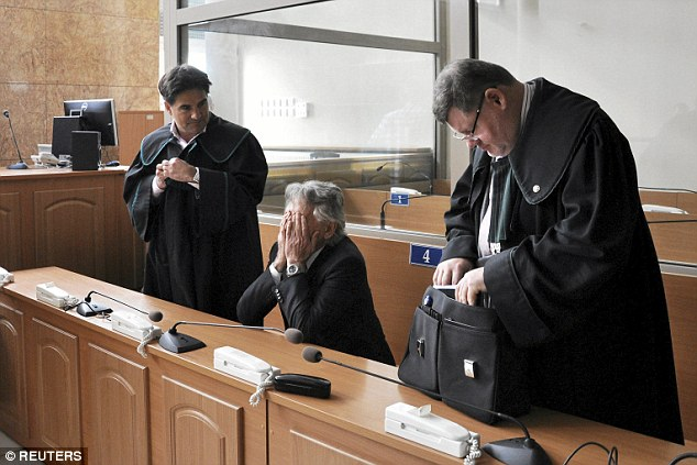 In court: America requested the extradition from Poland of 82-year-old film director Polanski (centre), who has Polish and French nationality, after he made a high-profile appearance in Warsaw in October 2014
