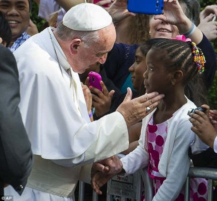 The pope fills a void  left by the death of unifying voice for the world Nelson Mandela