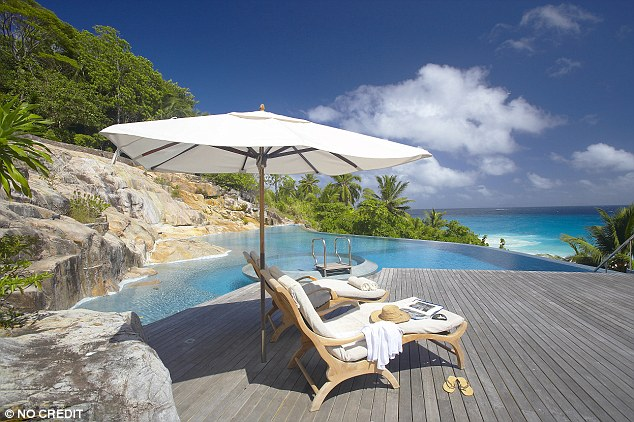 Each of the gorgeous villas on the island comes complete with an infinity pool, Jacuzzi and private beach