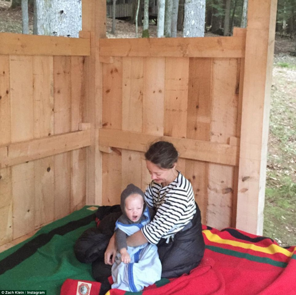 Idyllic: The couple now have a child and enjoy spending their time in the wilderness between everyday life and work on the West Coast