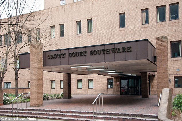 Alston was handed a sentence of 21 months in prison today at Southwark Crown Court (pictured)