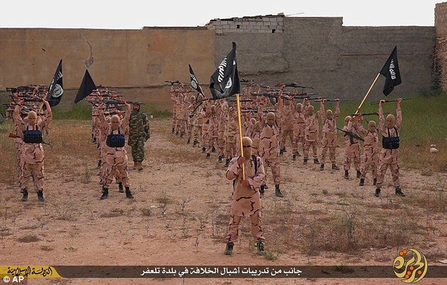 France's first air strike against ISIS in Syria killed at least 30 jihadists, including 12 child soldiers known as 'Cubs of the Caliphate' like the ones pictured above in an ISIS propaganda video