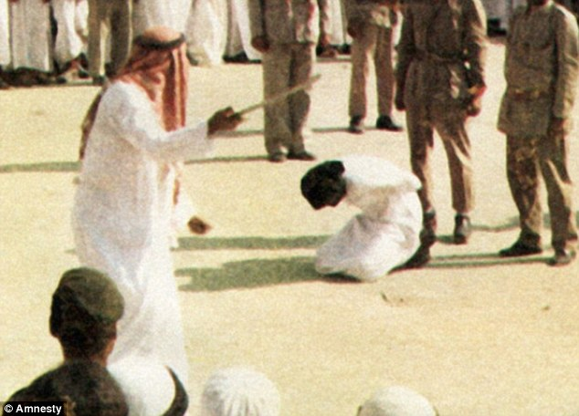 Extreme punishment: Saudi Arabia has threatened to execute those who spread rumours about the government on social media (file photo of a state execution)