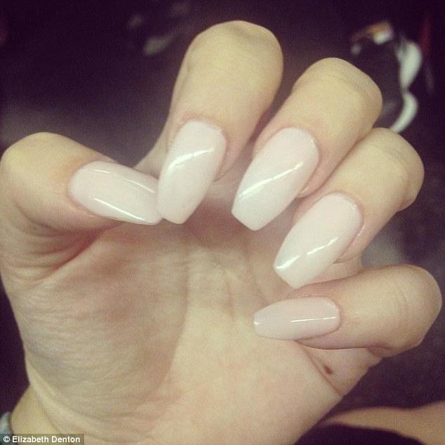 Light Pink Long Acrylic Nails- HireAbility