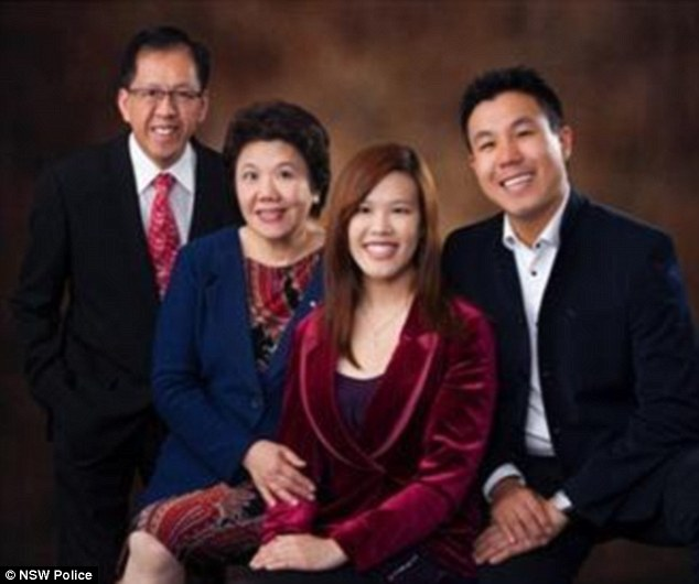 Slain police employee Curtis Cheng (far left) with his family, who police have declined to name