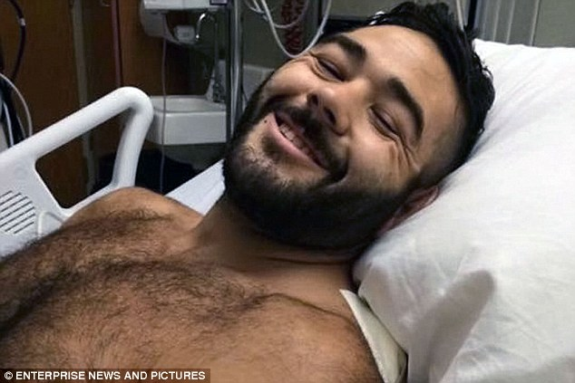 Meanwhile tributes and donations have flooded in for Chris Mintz, 30, an Army vet who was shot seven times after attempting to charge the gunman as he made his way into the classroom