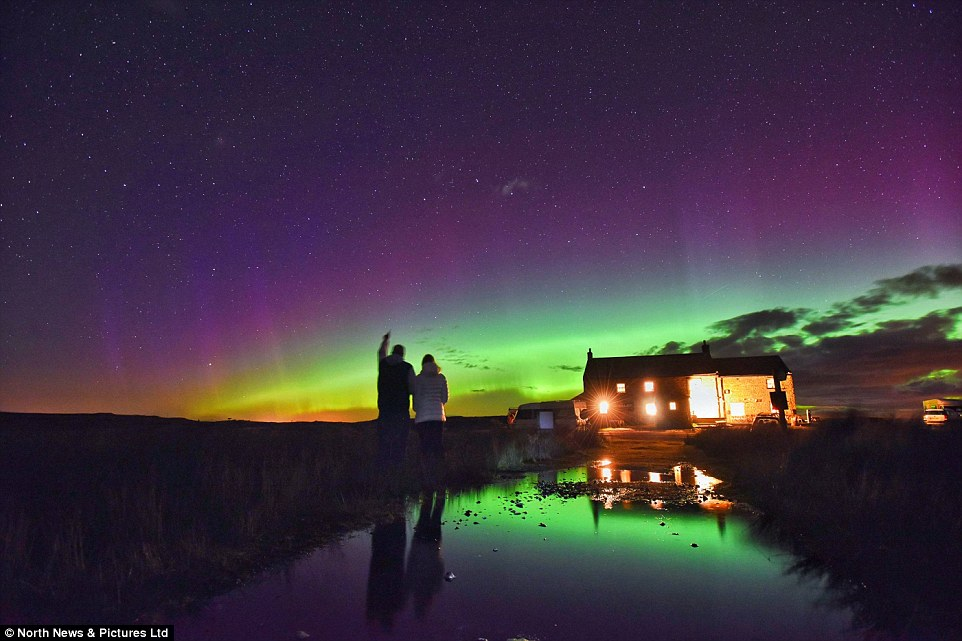 Tan Hill Inn Northern Lights