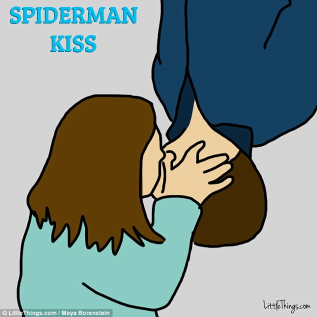 Made for the movies: The Spiderman kiss, which is inspired by the kiss exchanged in the 2002 film Spider-Man, is a sign of spontaneity in a relationship