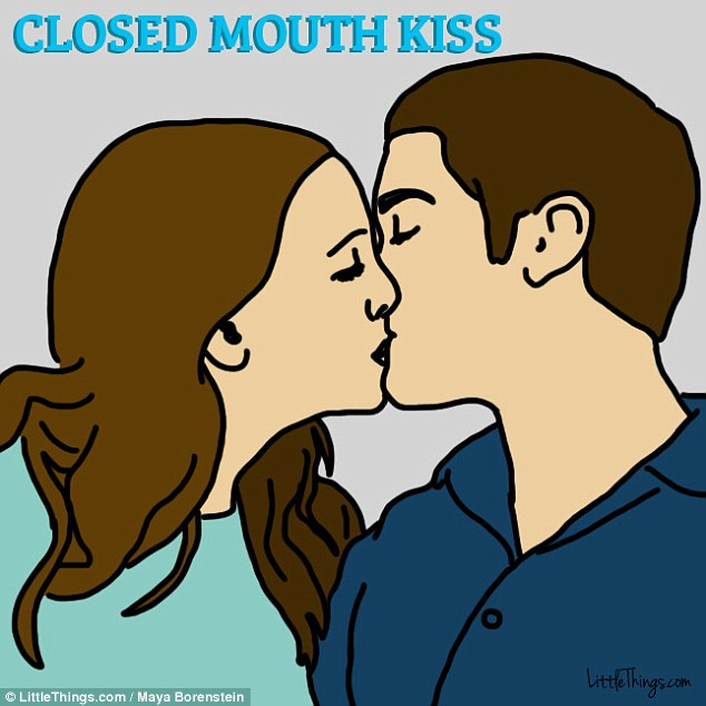 No trespassing: A dry closed mouth kiss can be a sign that people need to work on their communication skills and open up to each other more