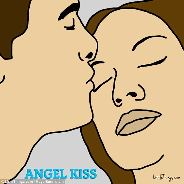 Stand by me: An angel kiss, which is when someone gently brushes their lips against a person's close eyelid, can be seen as a silent vow to protect the other person