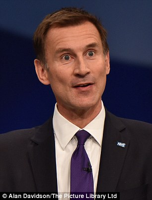 Warning: Health Secretary Jeremy Hunt claims the State cannot afford to look after elderly people