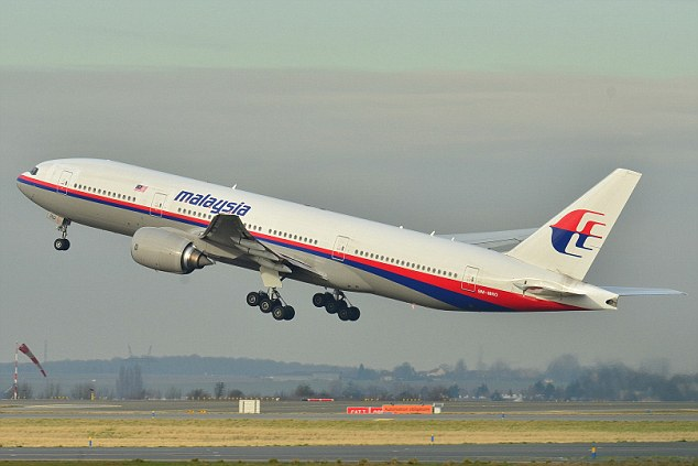 Mystery: Plane wreckage  containing 'many skeletons' and a Malaysian flag has reportedly been found in the Philippines, prompting speculation it could be missing Malaysian Airlines flight MH370 (above)