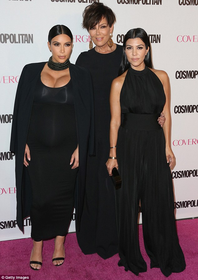 Koordinated!: The family all wore black, except for Kylie, and Kris sported a jumpsuit like Kourtney's