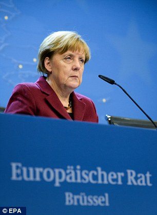 Angela Merkel, speaking at the EU leaders' summit, described the current situation as 'very disorderly'