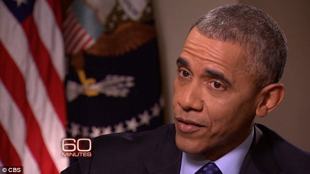 'NO': Obama said flatly Sunday on '60 Minutes' that he wasn't aware Clinton was operating a home-brew email server while she was America's top diplomat