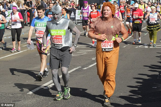 Image result for skinny and overweight person running race
