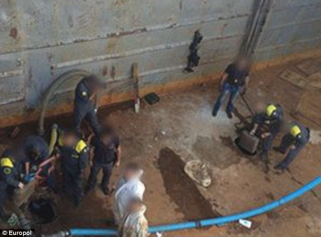 The search team eventually found the drugs hidden in a specially constructed section of the ballast tank