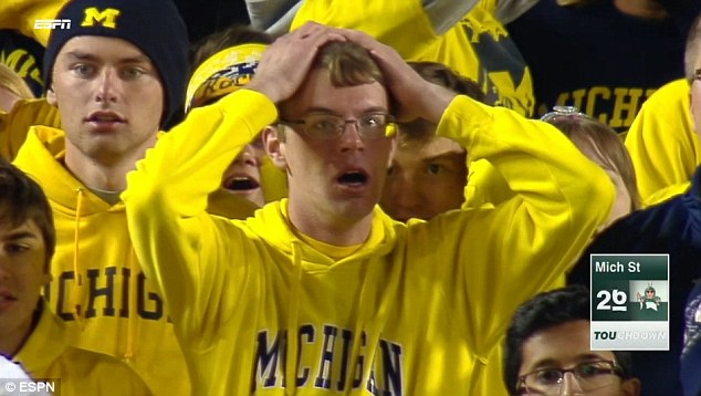 Image result for michigan fan crying